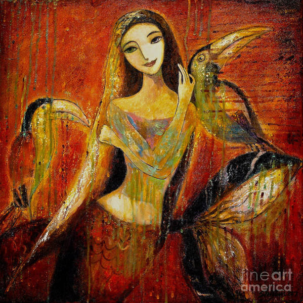 Painting - Mermaid Bride by Shijun Munns