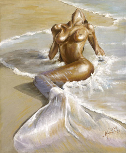 Shores Wall Art - Painting - Mermaid by Karina Llergo