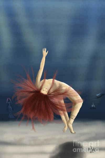 Phantasy Digital Art - Mermaids Is Coming by Dr Mador