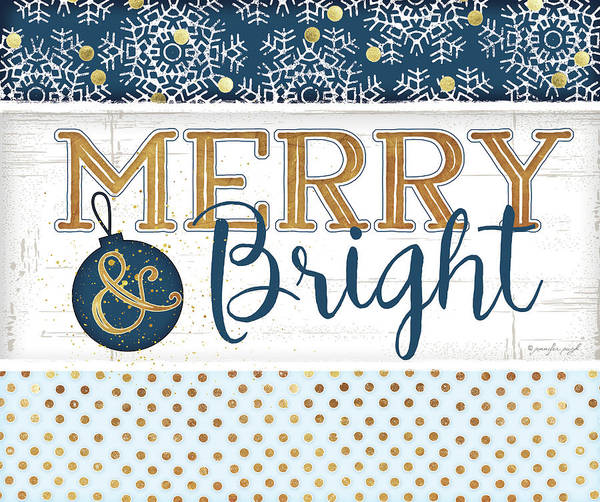 Wall Art - Painting - Merry & Bright Blue by Jennifer Pugh