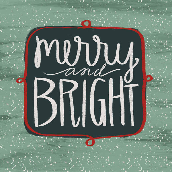 Wall Art - Painting - Merry & Bright by Katie Doucette