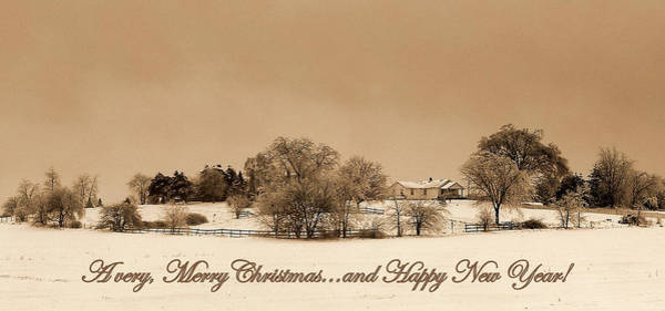 Ives Photograph - Merry Christmas 2012 by Claude Oesterreicher