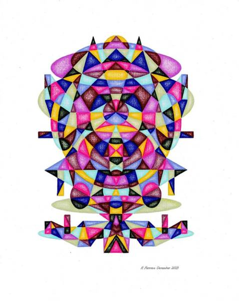 Sacred Geometry Drawing - Merry Christmas 2013 Matrix Series by Ruthie Ferrone