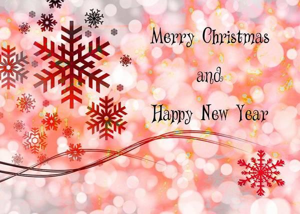 Wall Art - Digital Art - Merry Christmas And Happy New Year by Paula Ayers