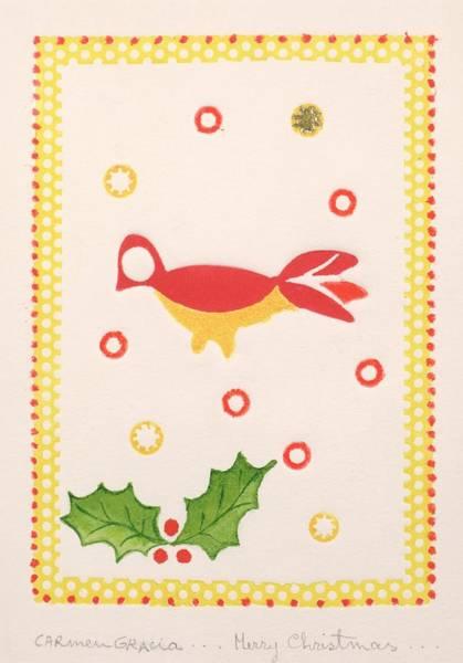 Carmen Wall Art - Painting - Merry Christmas by Carmen Gracia
