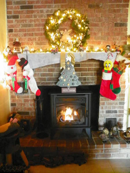 Photograph - Merry Christmas Fireside by Lisa Wooten