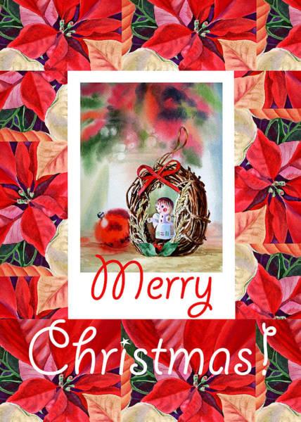 Painting - Merry Christmas From An Angel by Irina Sztukowski
