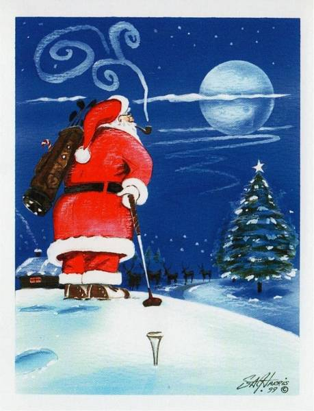 Steve Harris Wall Art - Painting - Merry Christmas From The North Pole by Steve Harris