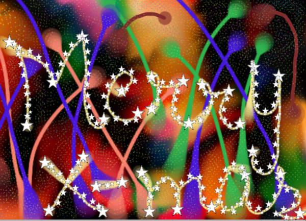 Yule Tide Painting - Merry Christmas by Karunita Kapoor