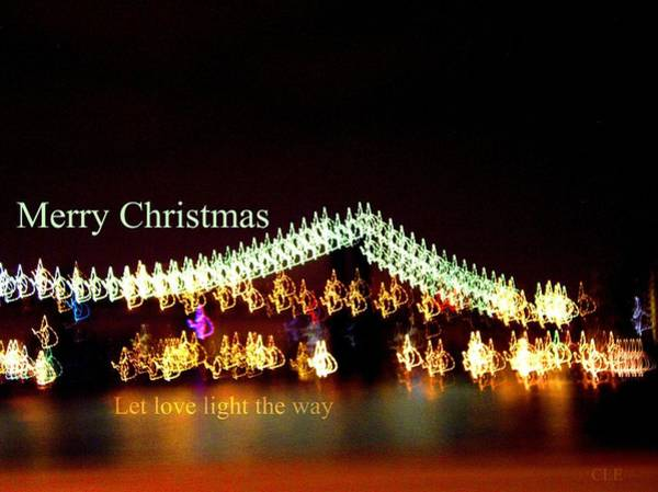 Digital Art - Merry Christmas Let Love Light The Way by Cleaster Cotton