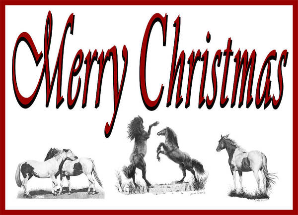 Digital Art - Merry Christmas by Marianne NANA Betts