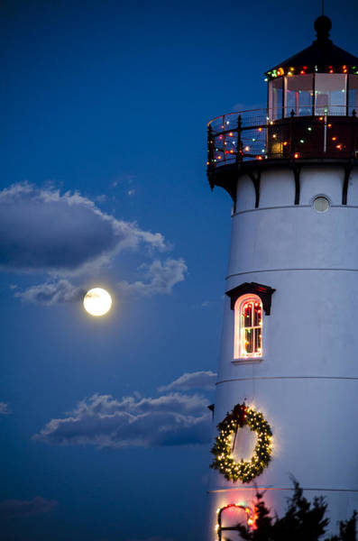 Photograph - Merry Christmas Moon by Steve Myrick
