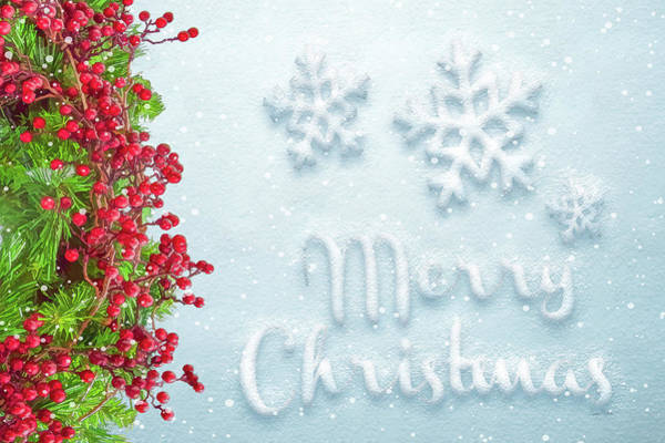 Wall Art - Painting - Merry Christmas by Ramona Murdock