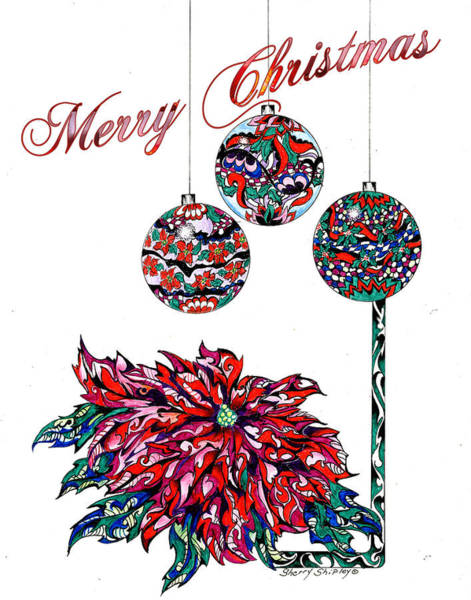 Drawing - Merry Christmas by Sherry Shipley