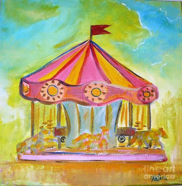 Wall Art - Painting - Merry-go-round by Fatema Josh