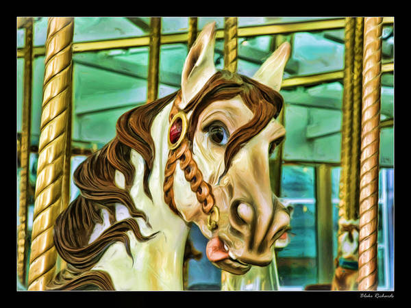 Photograph - Merry-go Round Horse by Blake Richards