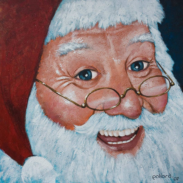 Painting - Merry Santa by Glenn Pollard