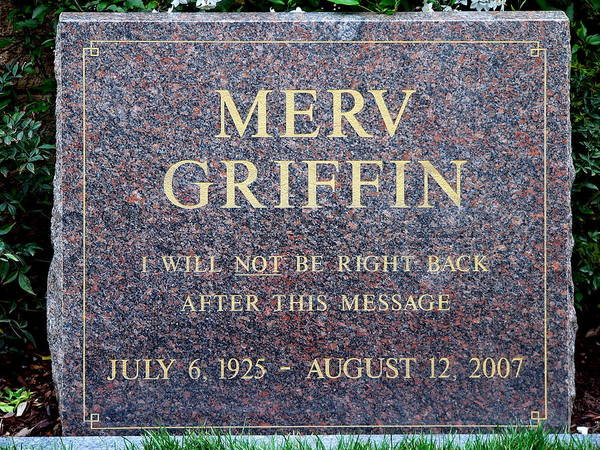 Photograph - Merv Griffin Grave by Jeff Lowe