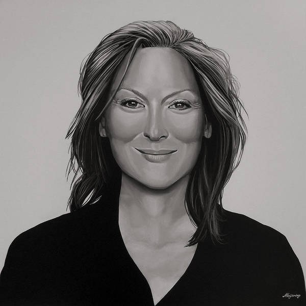 Wall Art - Painting - Meryl Streep by Paul Meijering