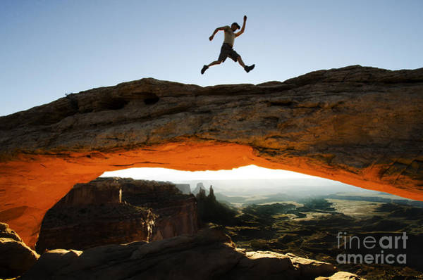 Camping Wall Art - Photograph - Mesa Arch Midair by Bob Christopher