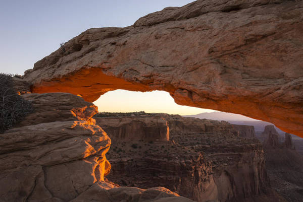 Wall Art - Photograph - Mesa Arch Sunrise 2 - Canyonlands National Park - Moab Utah by Brian Harig