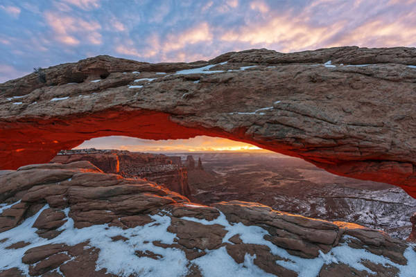 Photograph - Mesa Arch Sunrise by Dustin  LeFevre