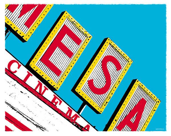 Mesa Cinema Art Print