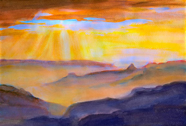 Painting - Mesa Sunset by Rick Wicker