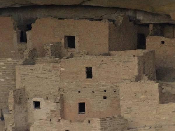 Digital Art - Mesa Verde Cliff Dwellings by Dan Sproul
