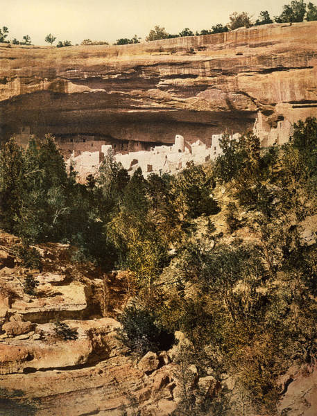 1890s Photograph - Mesa Verde Cliff Palace by Underwood Archives