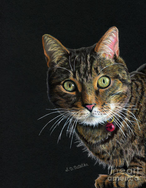 Tabby Cat Painting - Mesmer Eyes by Sarah Batalka