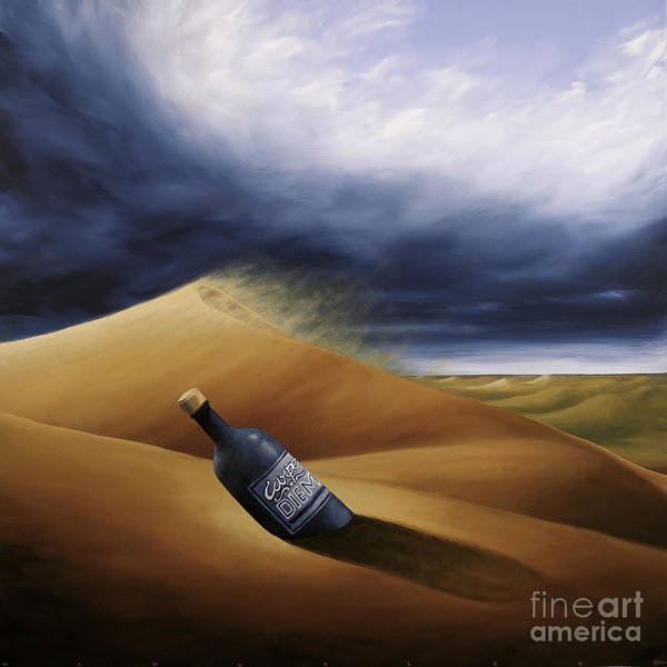 Painting - Message In A Bottle by Ric Nagualero