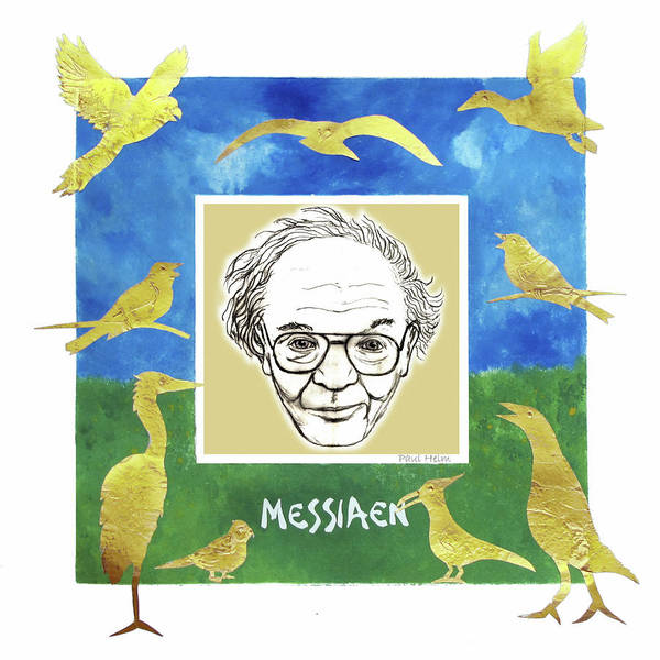 Heron Mixed Media - Messiaen by Paul Helm