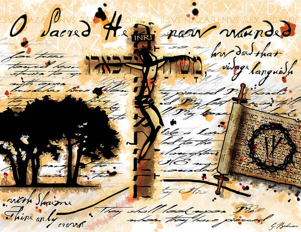 Crucifixion Digital Art - Messiah by Gary Bodnar