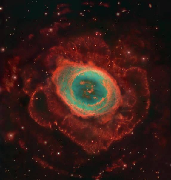 Evolution Photograph - Messier 57, The Ring Nebula by Robert Gendler/stocktrek Images