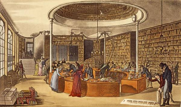 Library Drawing - Messrs Lackington Allen And Co., 1809 by English School