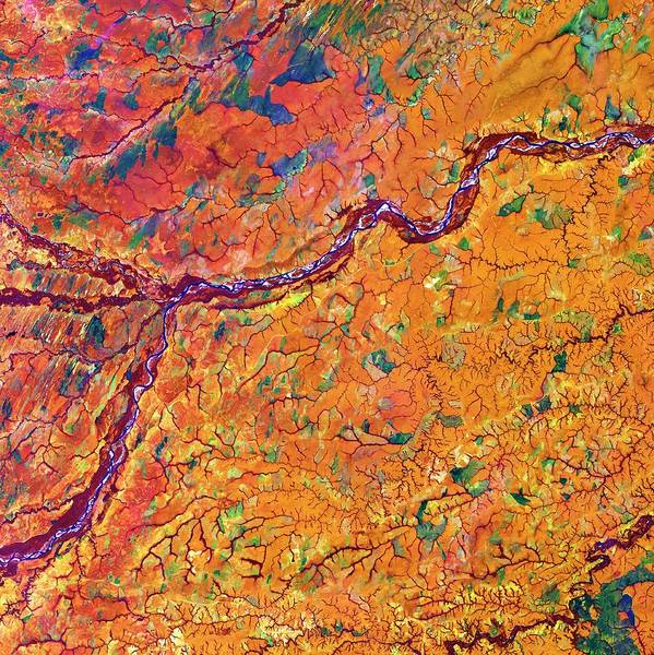Colombian Wall Art - Photograph - Meta River And Tropical Grasslands by Us Geological Survey/science Photo Library