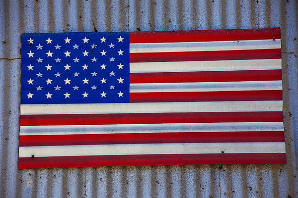 Gay Flag Photograph - Metal American Flag by Garry Gay