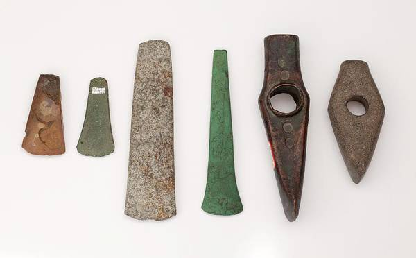 Bronze Age Wall Art - Photograph - Metal And Stone Imitation In Prehistory by Paul D Stewart