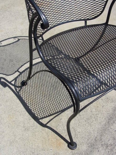 Photograph - Metal Chair And Shadow 2 by Anita Burgermeister