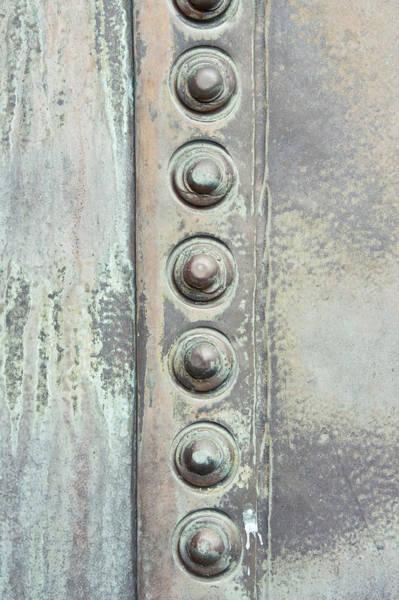 Silvery Photograph - Metal Detail by Tom Gowanlock