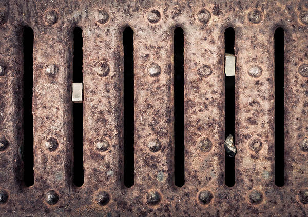 Brown Wall Art - Photograph - Metal Grill by Tom Gowanlock