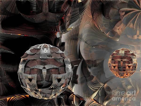 Digital Art - Metal Spheres by Bernard MICHEL