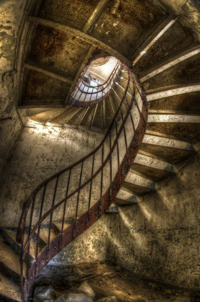 Grimy Wall Art - Photograph - Metal Stairs by Nathan Wright