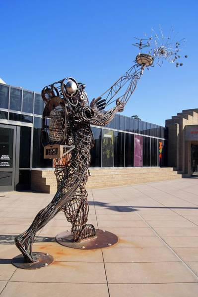Flying A Kite Photograph - Metal Street Art by Mark Williamson