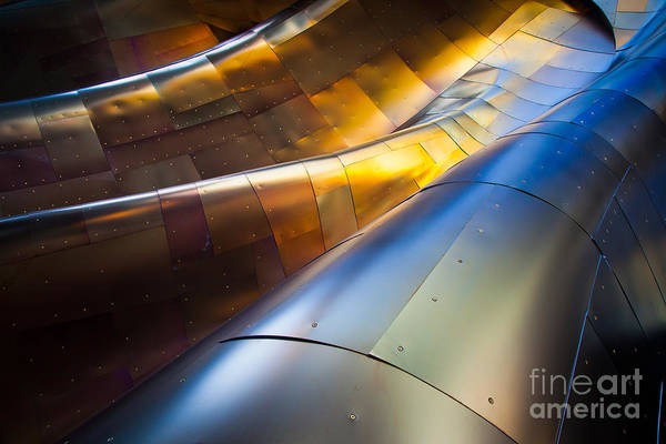 American Steel Photograph - Metal Waves by Inge Johnsson