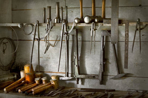 Photograph - Metal Worker - Tools Of A Tin Smith by Mike Savad