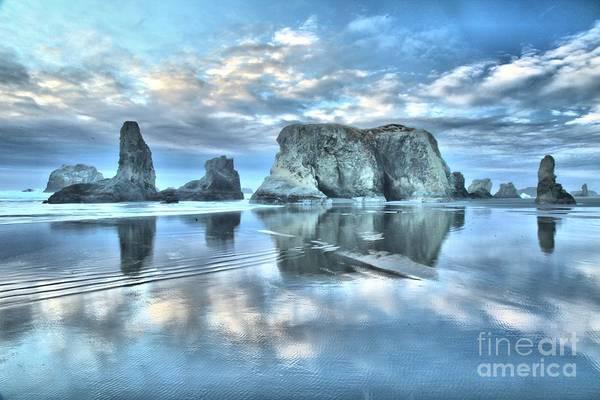 Photograph - Metallic Cloud Reflections by Adam Jewell