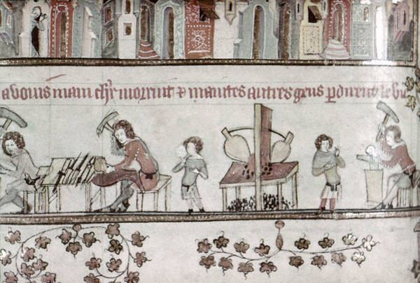 Painting - Metalworkers, 14th Century by Granger
