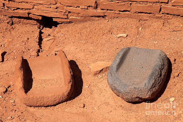 Photograph - Metates At Wupatki Pueblo In Wupatki National Monument by Fred Stearns